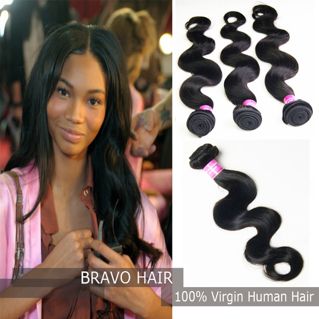 Bravo Hair Products Aaaaaa Grade Malaysian Extension Body Wave 3 Bundles Unprocessed Weave