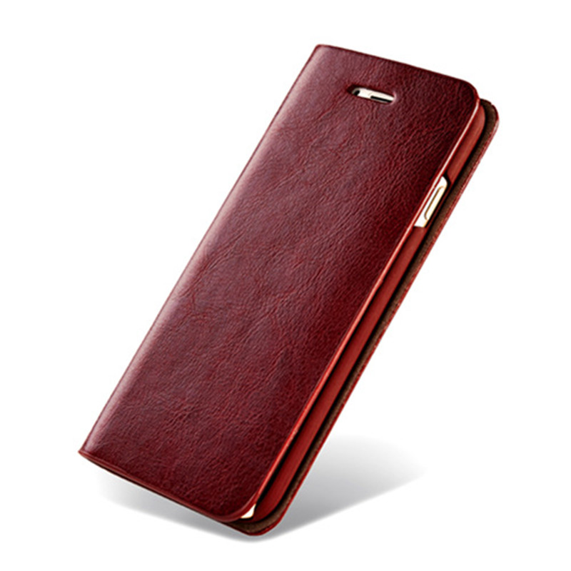 Genuine Leather Wallet Phone Case for iphone 7 7Plus 6 6s 6 Plus 5 5s SE