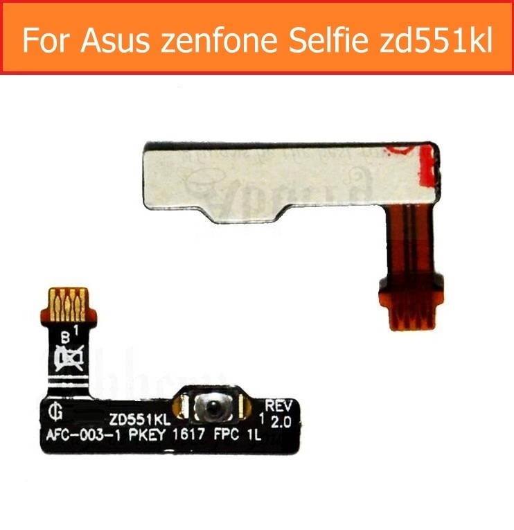 Genuine Up/down volume Flex cable For Asus zenfone Selfie zd551kl power flex cable & side key button silent & mute keypad parts asus zenfone selfie zd551kl 32gb ram 2gb pink