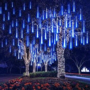 KHLITEC 30 cm wasserdicht Meteor Dusche Regen Tubes Led-Licht Lampe 8 Rohre 240 V Eu-stecker Weihnachten Licht Hochzeit garten Dekoration
