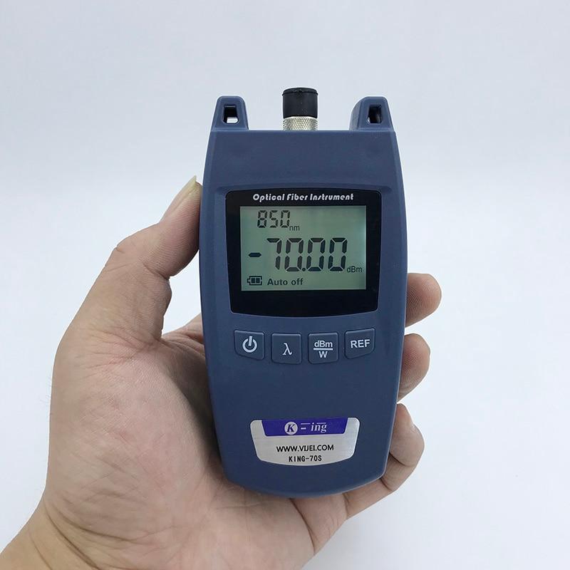 Ftth KING-70S Fiber Optische Power Meter Glasvezel Kabel Tester -70dBm ~ + 10dBm Universele Interface 1