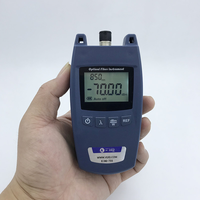 FTTH KING-70S Fiber Optical Power Meter Fiber Optical Cable Tester -70dBm~+10dBm Universal interface