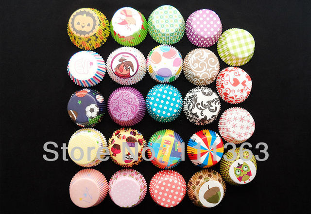 DIY 200pcs Paper Cake Cup mold  Cupcake Liner Muffin Paper Case Chocolate Baking Bake Mold