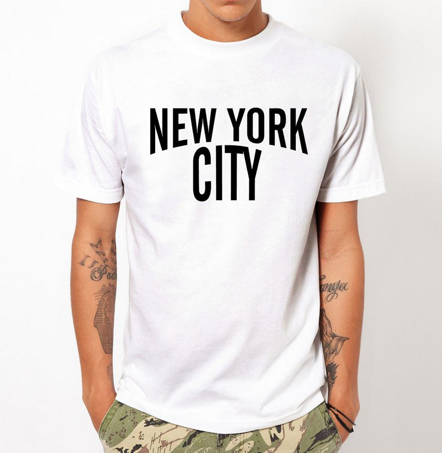 New york city nyc print men t shirt fashion casual funny for Best dress shirts nyc