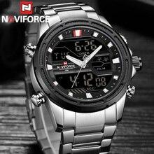 NAVIFORCE, мужские часы, лучший бренд, роскошные, военные, водонепроницаемый, светодиодный, цифровые, спортивные, мужские часы, мужские наручные часы, relogio masculino 9138