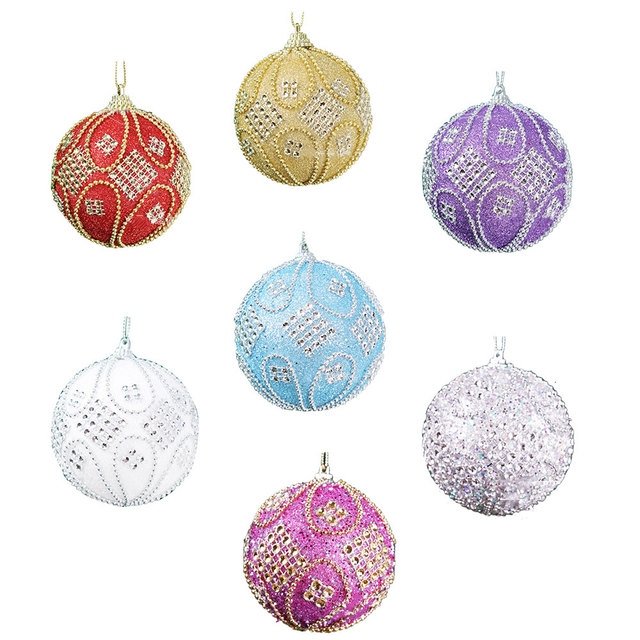 christmas tree glitter ball baubles xmas hanging party decor decoration
