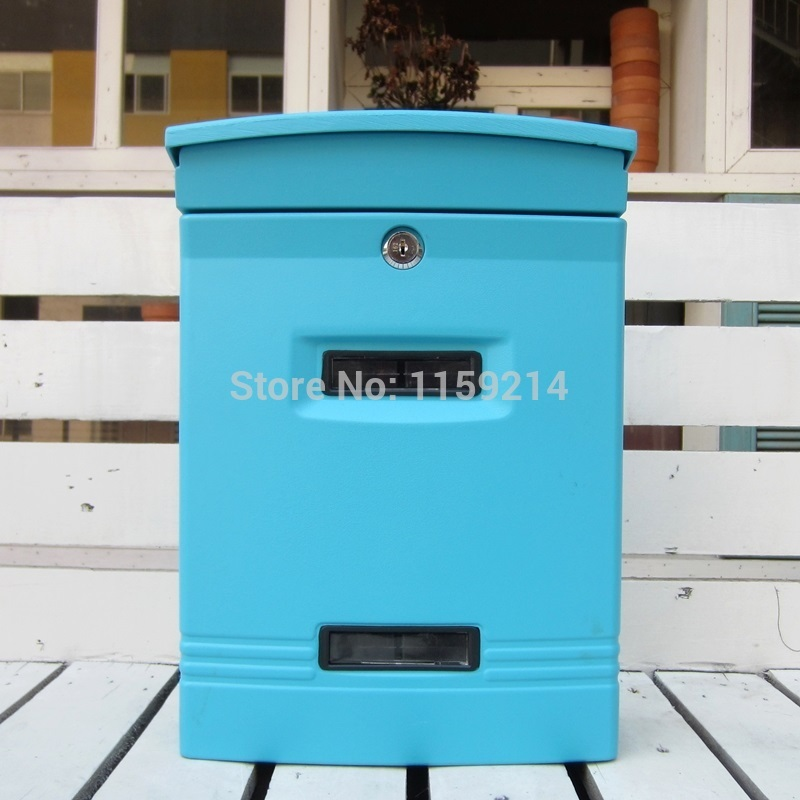 Garden mailbox aluminum alloy letter box ...