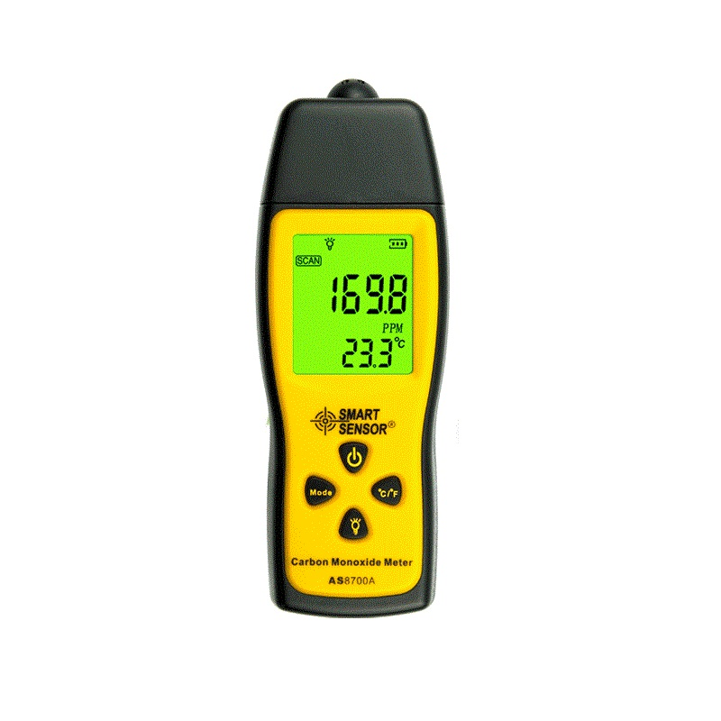 Handheld Carbon Monoxide Meter Portable CO Gas leak Detector Gas Analyzer Range 1000ppm High Precision SmartSensor AS8700A halogen gas detector alarm freon cfc hfc hcfc refrigerant gas leak detector aicool gas analyzer r134a refrigerant