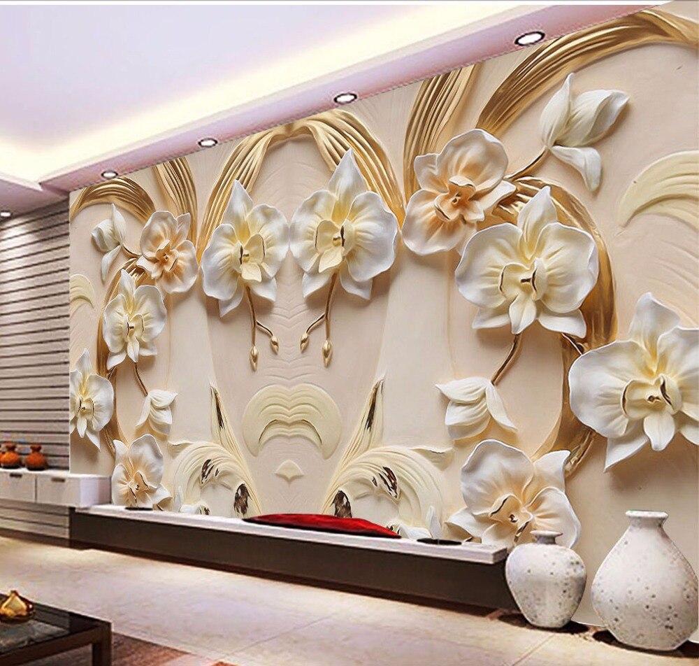 Wall Mural Photo Wallpaper Xxl Flowers Orchids Texture: Bacaz Sandstone Texture Butterfly Orchid Flower Wallpaper
