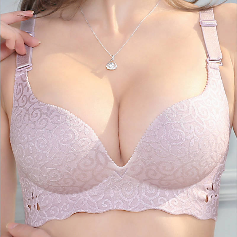 Plus Size   Bra     Set   Push Up Underwear Women Lingerie   Set   Thin Cup   Bras   Large Size Intimates Ladies   Bras   and Panty   Set   95 100 105