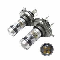 2PCS Top Quality H4 100W High Power 20SMD Car Auto LED Headlight Bulbs Fog Lamp White
