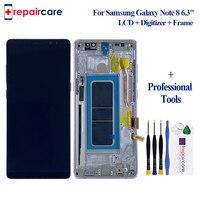 6,3 Оригинальный супер AMOLED дисплей для SAMSUNG Galaxy NOTE 8 lcd N950 N950F дисплей сенсорный экран Запасные части + рамка