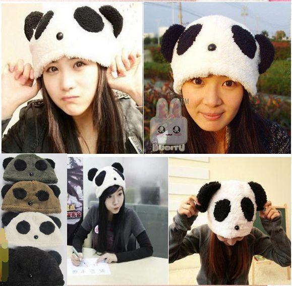 Animal de moda Kung Fu Panda sombrero para mujeres hombres capó Gorro además de terciopelo protege