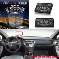 For Peugeot 607 806 807 Eurovans Car HUD Head Up Display Safe Driving Screen Projector Refkecting Windshield