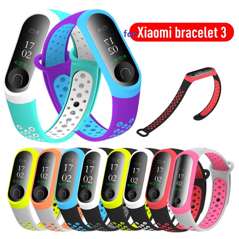 For Mi Band 3 4 Strap Wrist Strap For Xiaomi Miband 3 Silicone For Miband 3 4 Accessories Colorful For Miband4 Replacement Strap