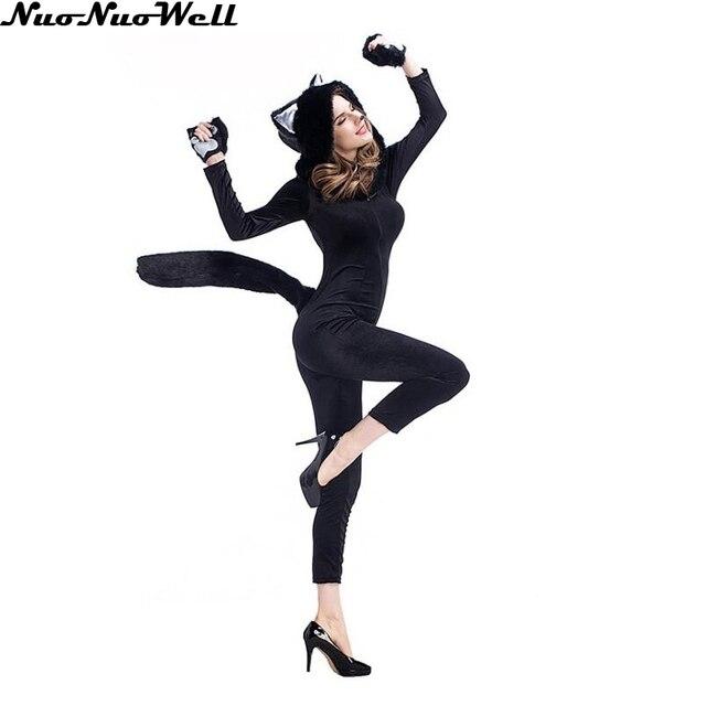 Nuevo estilo de moda negro gato mujeres trajes sexy Hot mujer etapa Mono  para cantante nightclub b5eeed072cf