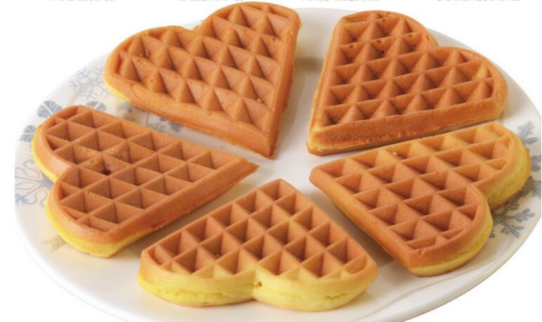 Elettrico a Forma di Cuore Stampo Waffle Maker Mini Plaid Torta Che Fa La Macchina Forno di Riscaldamento Della Macchina FY 215 - 3