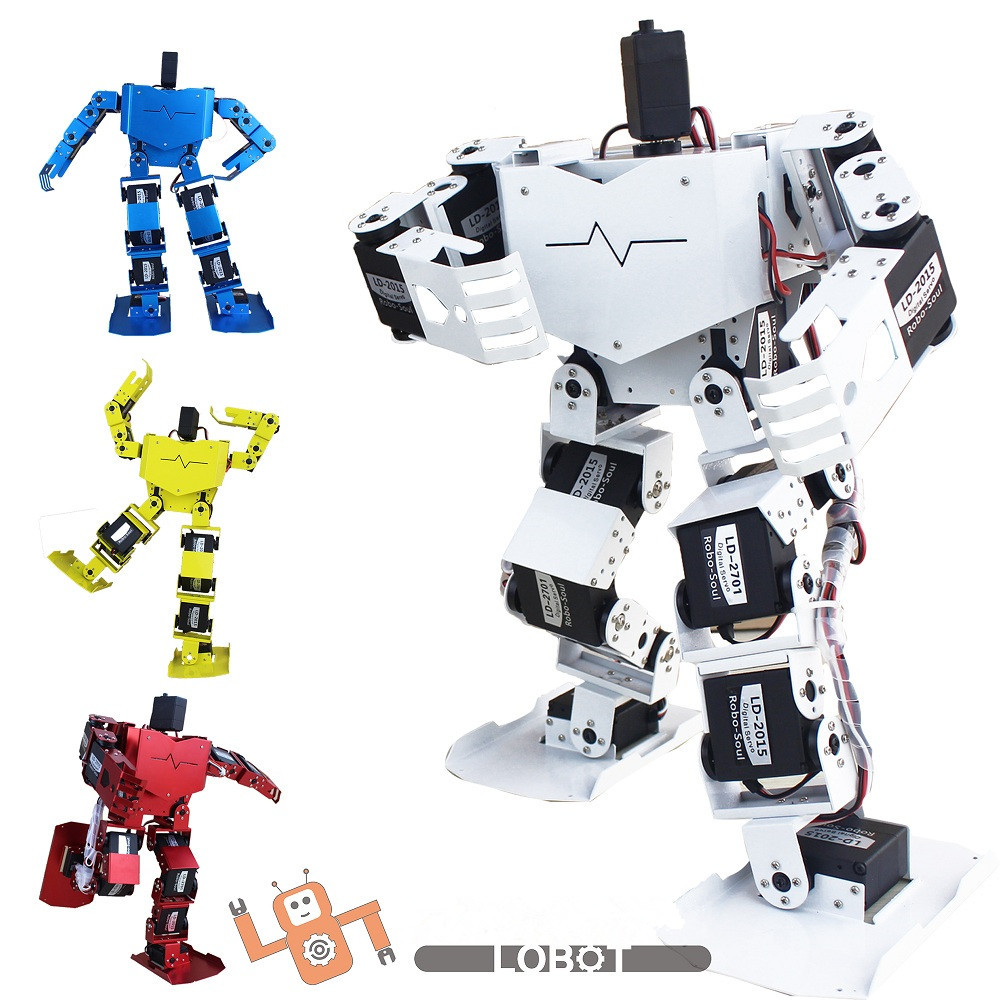New 17 degrees of freedom humanoid Biped Robot teaching and research biped robot platform model (no electronic control system)