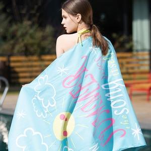 Image 4 - SANTO Quick Drying Beach Bath Towel Microfiber Magic Soft Lint Ecofriendly Cloth Camping Comfortable Hiking Swimming 4 Colors