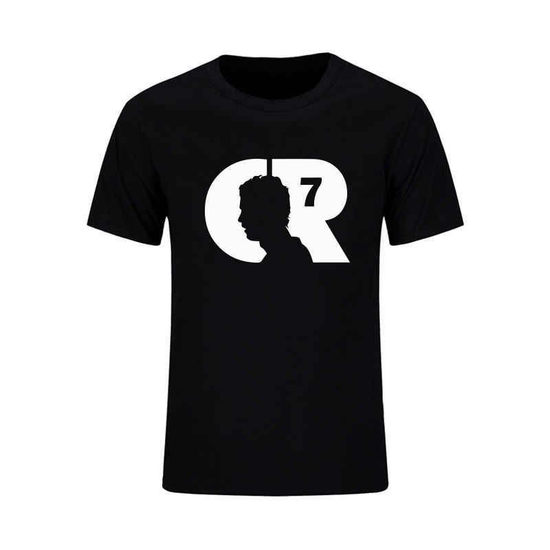 0a4afebfe Summer Cristiano Ronaldo Men s T-Shirt CR7 Custom T Shirts Design Barcelona  Tops Camiseta Masculinaxs