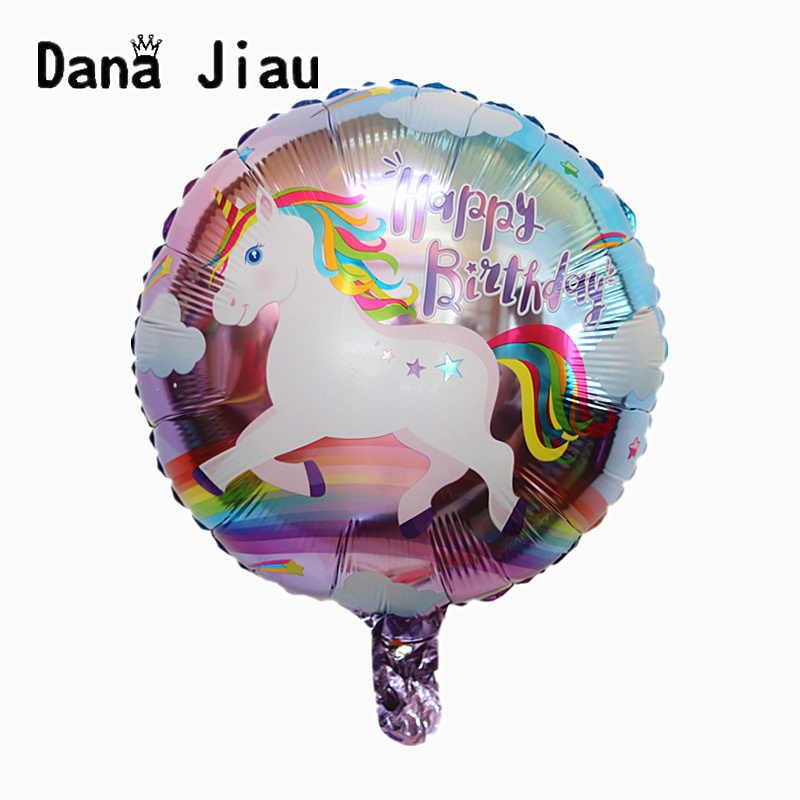 18 pulgadas ojo unicornio aluminio globo fiesta cumpleaños decoraciones niños juguete suministros boda Baby Shower flor