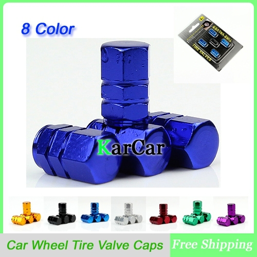 1Set New Universal Aluminum Hexagonal Design Auto Car Wheel Tire Air Valve Caps Vehicle Tyre Valve
