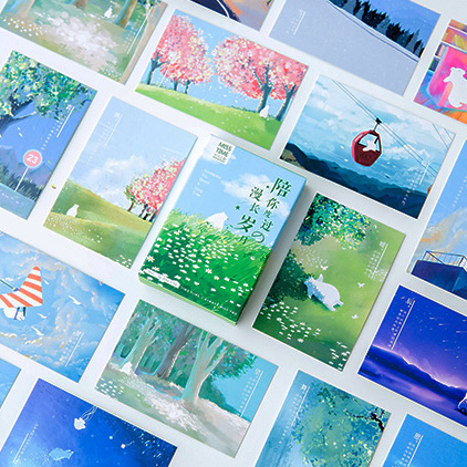 28 Sheets/Set Accompany You Spend A Long Time Lomo Card Mini Postcard Message Card Gift Greeting Card
