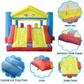 Yard 3 em 1 casa do salto inflável, playground inflável, brinquedos infláveis para chirldren, bouncer inflável trampolim