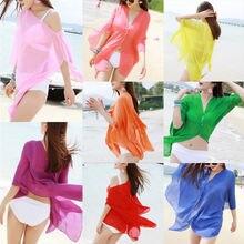 1 шт. бикини пляжное платье женская рубашка сексуальная женская летняя пляжная одежда