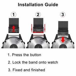 Image 5 - מהיר קל Fit עור אמיתי רצועת השעון עבור Garmin Fenix 5X/5X בתוספת/5S/5/3/ 3HR/Forerunner 935/גישה S60 להקת שעון רצועה
