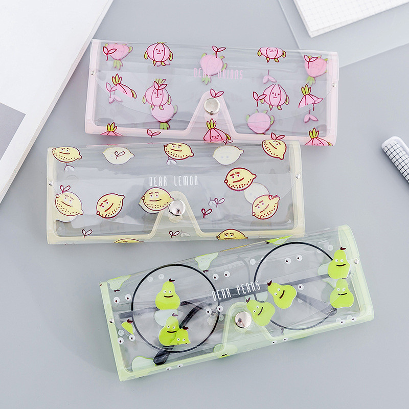 Image 2 - 1PCS Cartoon Cute Car Accessories Transparent PVC Eye Glasses Box Bag Case Protection Box Eyewear Accessoires for Adults Kids-in Glasses Case from Automobiles & Motorcycles