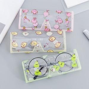 Image 2 - 1PCS Cartoon Cute Car Accessories Transparent PVC Eye Glasses Box Bag Case Protection Box Eyewear Accessoires for Adults Kids