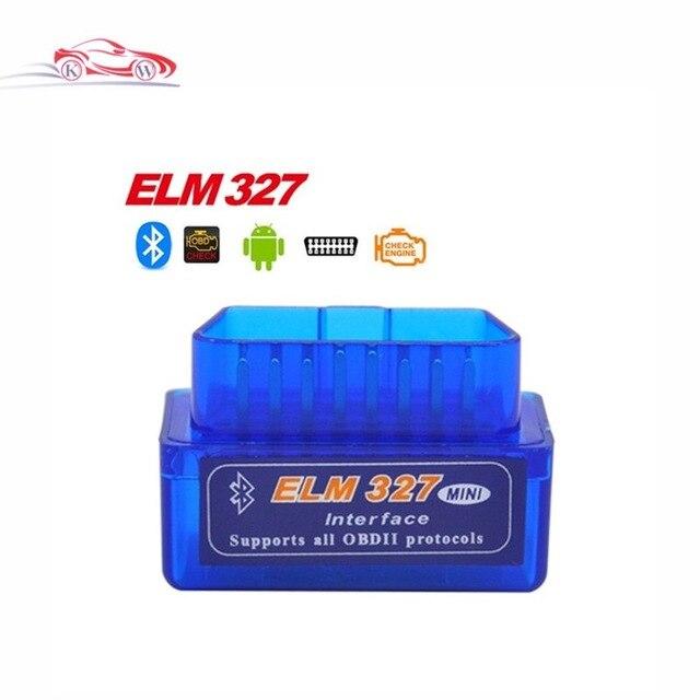 Dernière Version Super Mini ELM327 Bluetooth V2.1 OBD2 Mini Elm 327 Voiture De Diagnostic Scanner Outil Pour ODB2 OBDII Protocoles