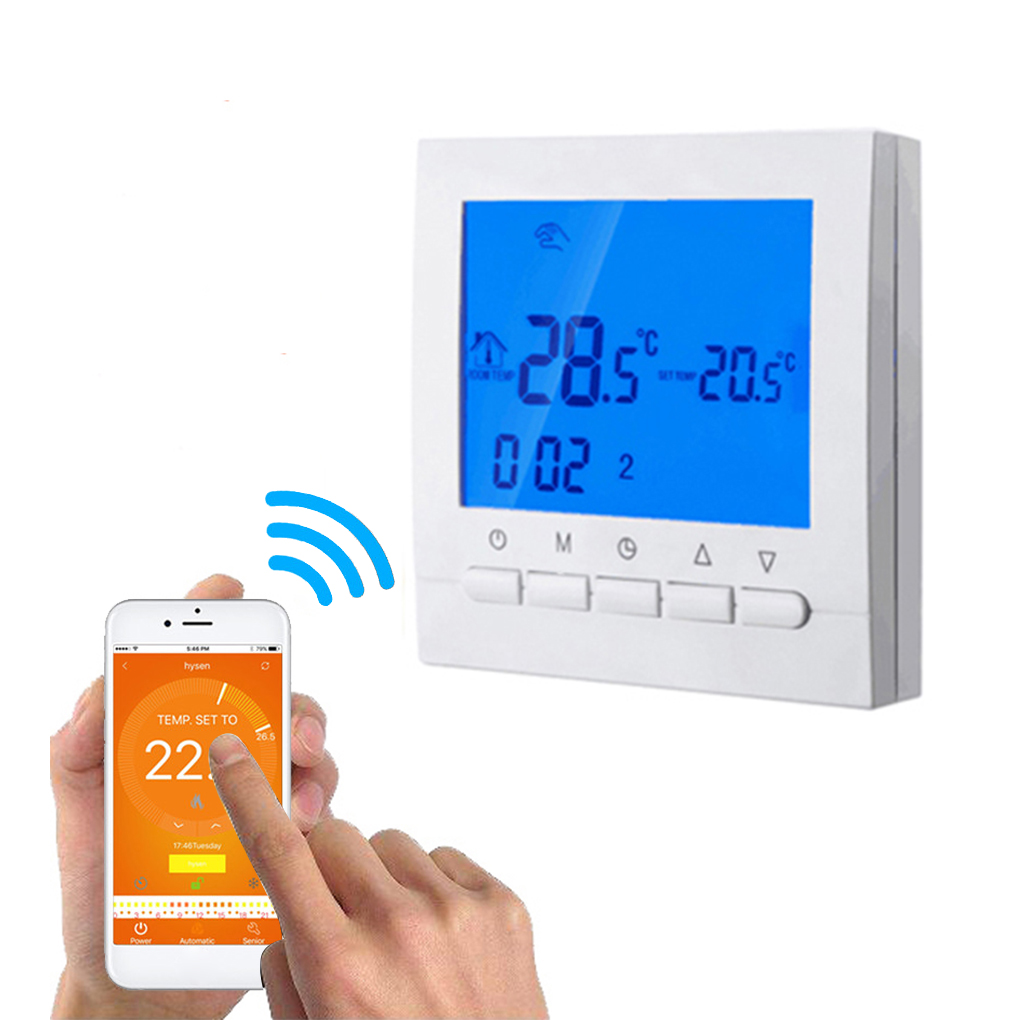 Programmable Wifi Thermostat Electric or Water Floor Heating Thermostat LCD Display Smart WIFI Temperature Controller electric water heater thermostat temperature control switch heating tube electric heating tube heating rod for ariston
