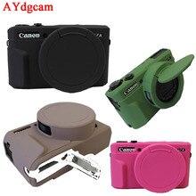 Nice Камеры Видео Сумка Для Canon G7X G7XII марк 2 G7X II Силиконовый Чехол Резиновый чехол для Камеры Защитный Чехол кожи