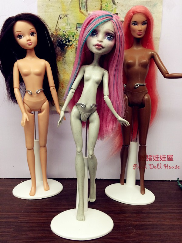 3pcs Stand For Monster Toys Dolls Accessories  Doll's Stand Display Holder For Barbie