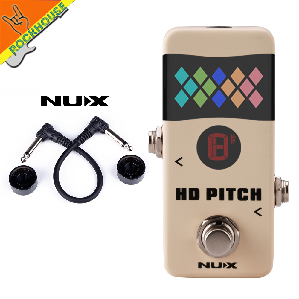 New NUX HD Pitch Guitar Pedal Tuner Mini Pedal Tuner 2 Tuning modes 2 Display modes