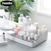 PEANDIM Multi Grids Cosmetics Storage Box Plastic Makeup Sundry Storage Holder Creative Organizer For House Storage