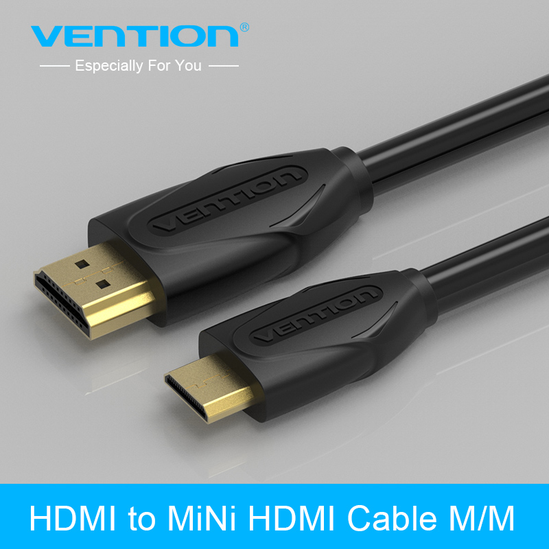 Vention Mini HDMI to HDMI Cable Gold-Plated HDMI 1.4V 1080P 1m 1.5m 2m 3m High Premium HDMI Adapter Cable for Tablet Camcorder