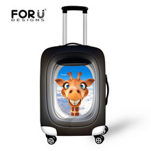 FORUDESIGNS Elastic Dust Cover For Travel Case Animals Dairy Cow Deer Style Luggage Protective Covers For 18 - 30 Inch Suitcase