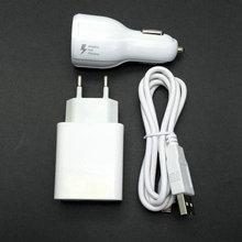 2.4A Mur Voyage UE Adaptateur 2 USB sortie + Micro USB Câble + voiture chargeur Pour Xiaomi Redmi Note 4 5.5 Pouce 3 GB RAM + 64 GB ROM