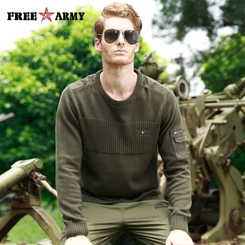 FREE ARMY New 2018 Autumn Winter Casual Pullover Brand Clothing Men's Sweaters With Slim Fit Men Pullover Knitted Thick Sweater