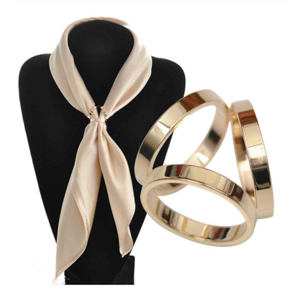 2019 Fashion Retro Hollow Burung Hantu Tabung Gesper Bros untuk Wanita Crystal Syal Bros Pesta Pernikahan Pakaian Perhiasan Aksesoris