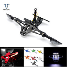Motorcycle Adjustable Angle License Number Plate Frame Holder Bracket For Ducati Monster1000 S/Monster1000 Dark M1000S S4/S4R(China)