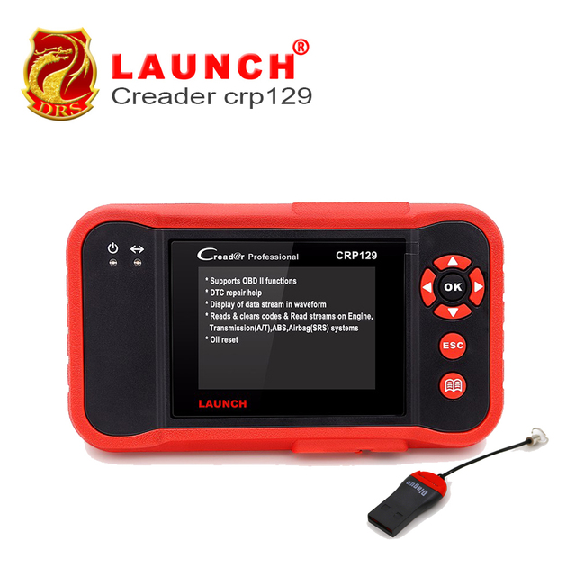 Best Offers Original Launch X431 Creader CRP129 Diagnostic-tool ENG/AT/ABS/SRS EPB SAS Oil Service Light Diagnostic Tool Car Scanner Tool