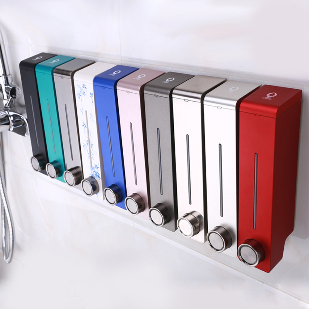 305ml SD-320 Líquido Dispensadores de Sabão De Banho Dispensador de Sabão Shampoo Mão Geral Pressão Wall-montado Banheiro Lavatório Da Cozinha