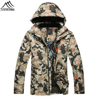 Saenshing 30 Degree Warm Ski Jacket Men Winter Waterproof Snow Jacket Breathable Camo Outdoor Skiing Jacket