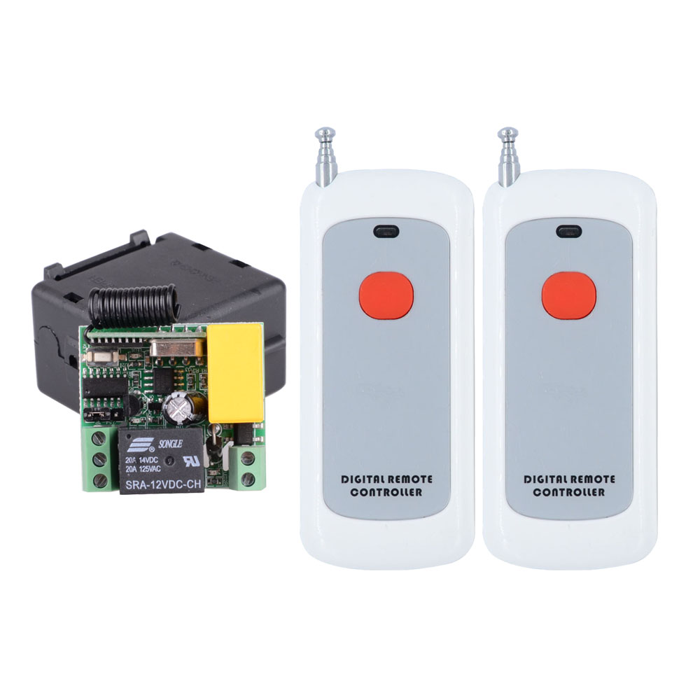 433Mhz AC 220V 1 Channel Receiver Wireless Remote Control Light Switch 10A Relay Output Radio Module 200M Transmitter433Mhz AC 220V 1 Channel Receiver Wireless Remote Control Light Switch 10A Relay Output Radio Module 200M Transmitter