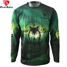 FURY RACE 2017 Wolf Enduro Downhill Jerseys DH MTB BMX Race Riding Cycling  Clothes Men Mountain be18ae8e2