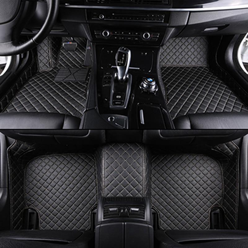 Tapis de sol de voiture sur mesure pour mitsubishi outlander xl pajero 4 sport lancer grandis galant asx tapis de voiture en cuir accessoires auto